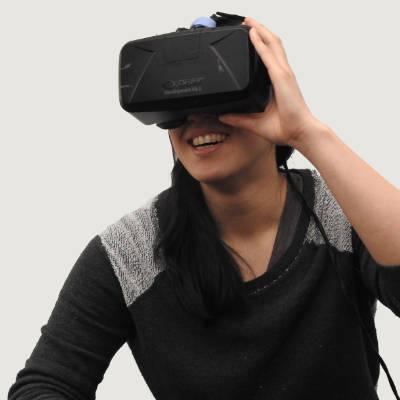 Persoon met VR bril