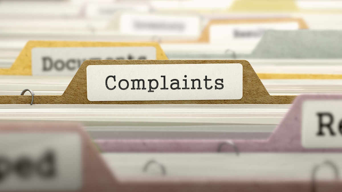 overview of complaints