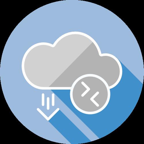 Wolk voor cloud computing en hosting