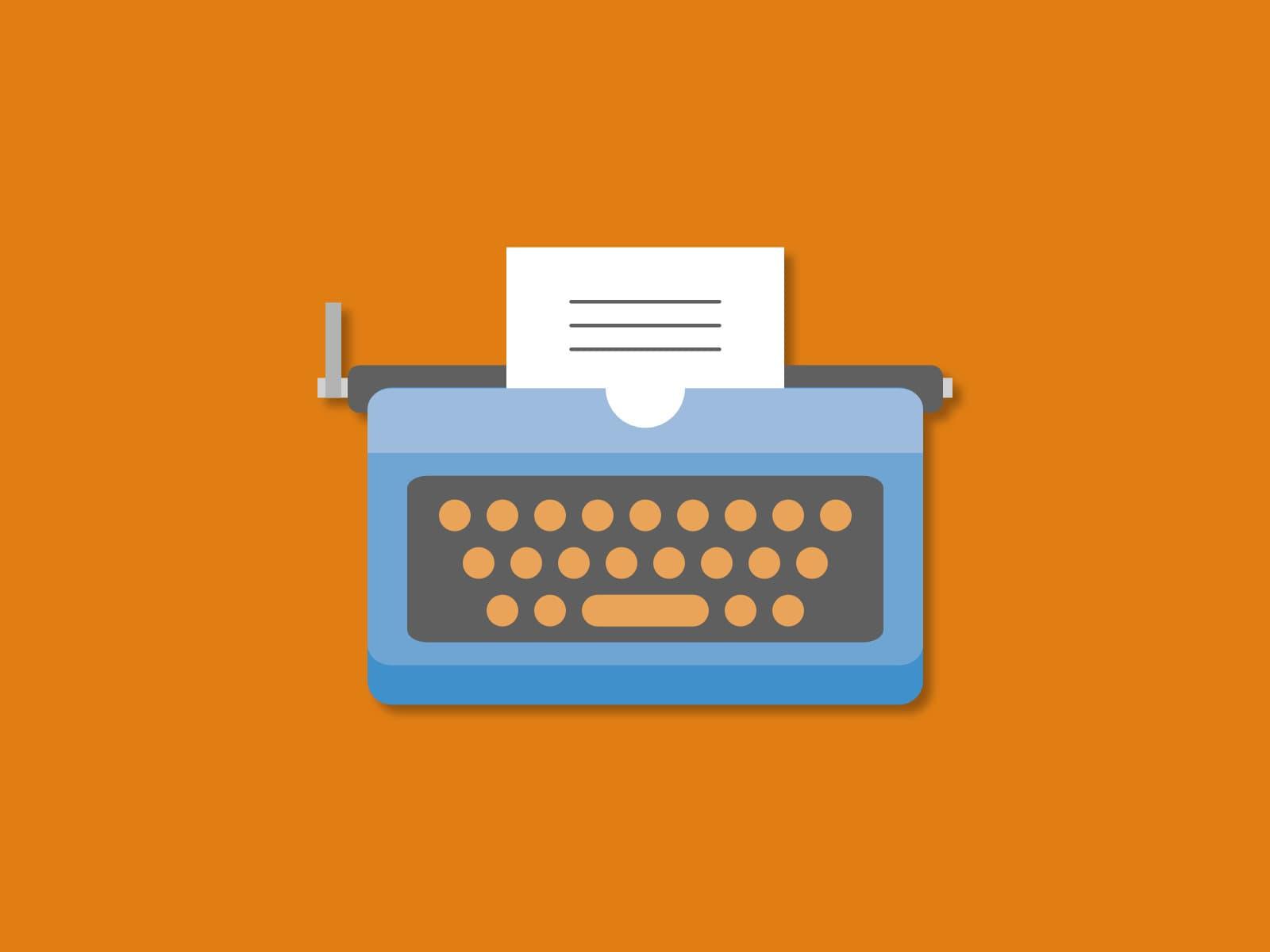Typemachine die symbool staat voor verandering in communicatie met debiteuren
