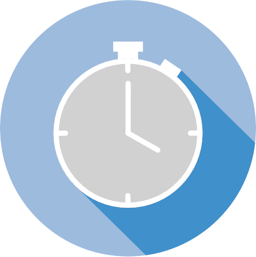 icon with a clock for short lead times