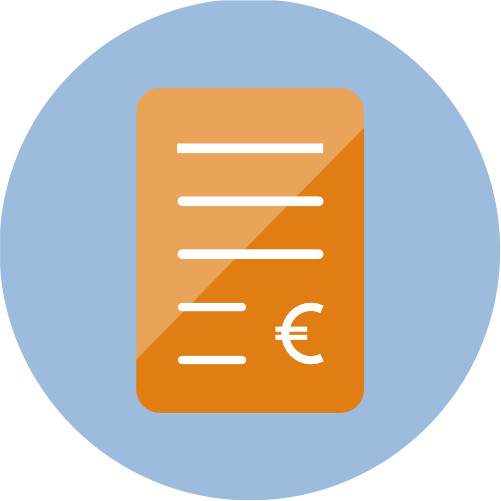 icon of an invoice